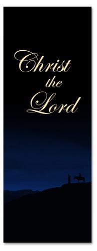 Christ The Lord Christmas season banner 3x8