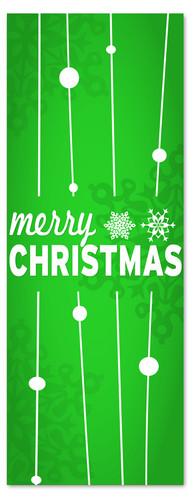 3x8 Green Merry Christmas church banner