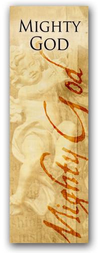Mighty God 3x8 Christian church banner