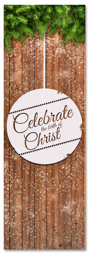 Celebrate the Birth of Christ with this church Christmas banner