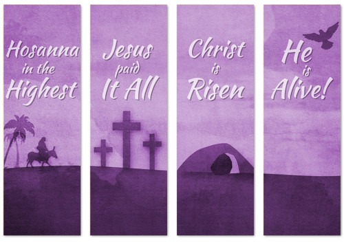 Easter Banners in a set of 4 designs