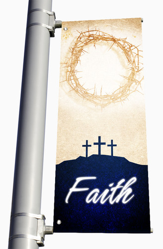 Easter Light Pole Banner Faith