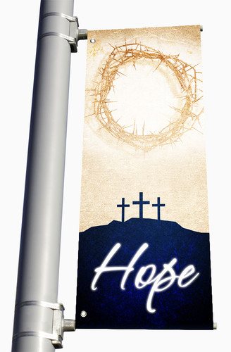 Double Sided Light Pole Banner for Easter