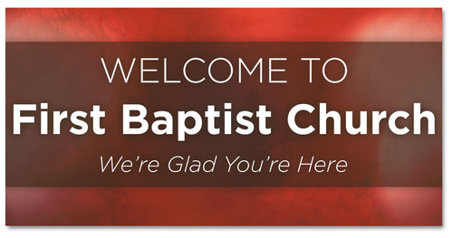 Welcome Banner for churches