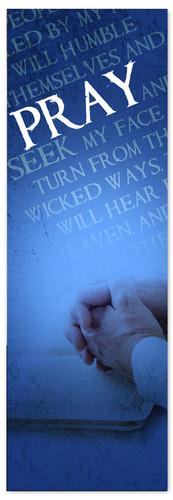 Pray Verse Blue - Prayer Banner