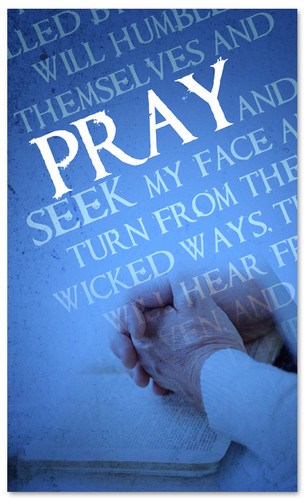 Pray Verse Blue Prayer Banner