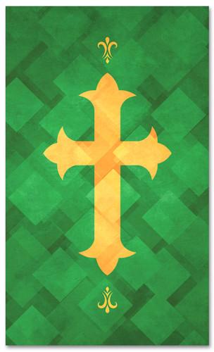 PAT051-2 Cross - Lattice Green