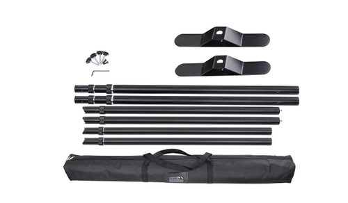backdrop display hardware and carrying case