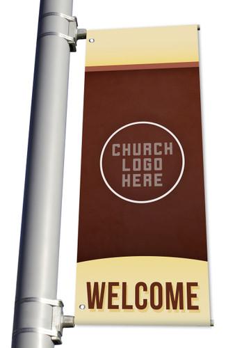 DS Light Pole Banner - Custom Church Banner Welcome
