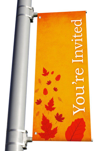 Light Pole Banner - Harvest You're Invited DS