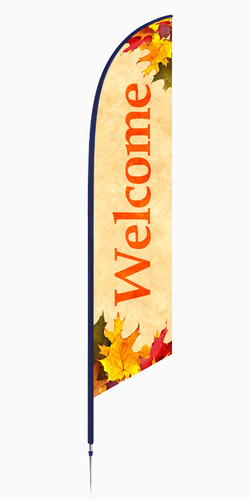 Thanksgiving Feather Banner Design - Welcome