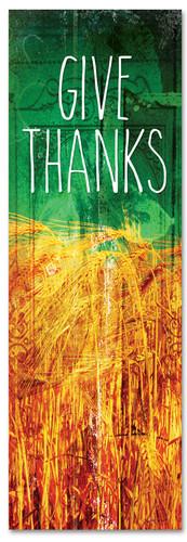 wheat rejoice fall harvest green banner