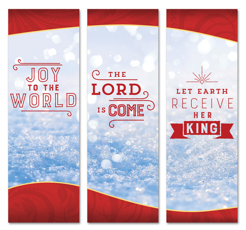 Joy to the World Christmas Collage church banners