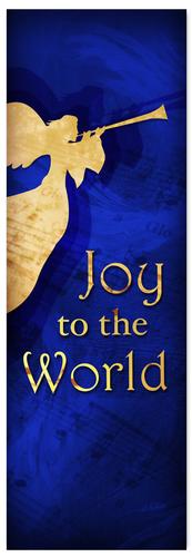 Church Christmas Banner - blue angel 1