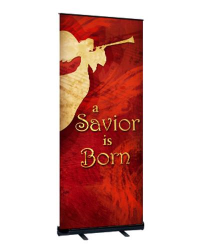 Red Angel Christmas Angel Banner