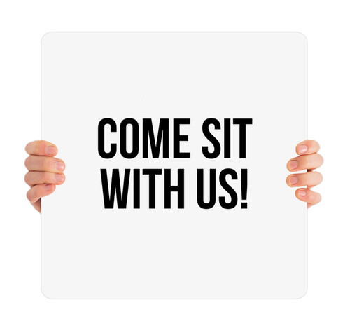 Come Sit With Us White HH0021