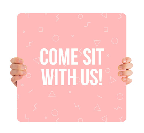 Come Sit With Us Pink Pattern HH0023