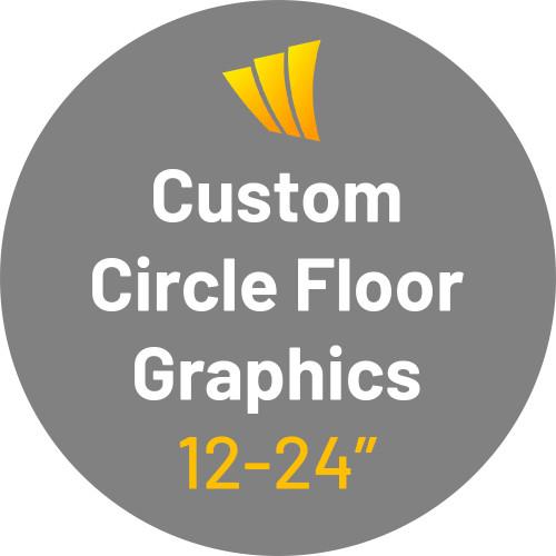 Custom Circle Floor Decals - Adhesive Vinyl Sticker