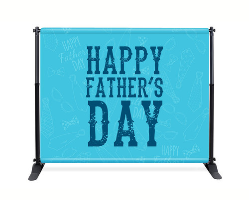 Father's Day Backdrop - Blue Happy Father's Day