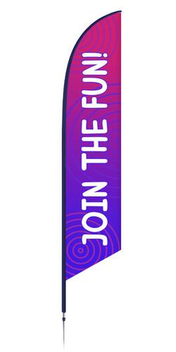 Vbs feather flag purple circles