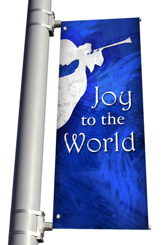 DS Light Pole Banner - Christmas 1 - Blue