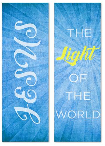 BC115 Light of the World - 2 banner set