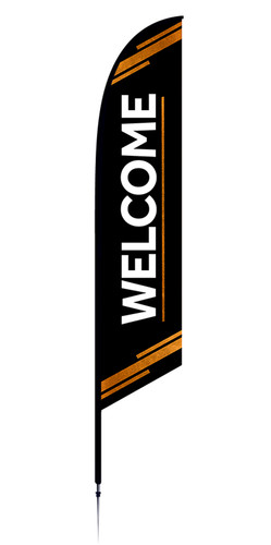 Feather Banner - Black Copper - Welcome