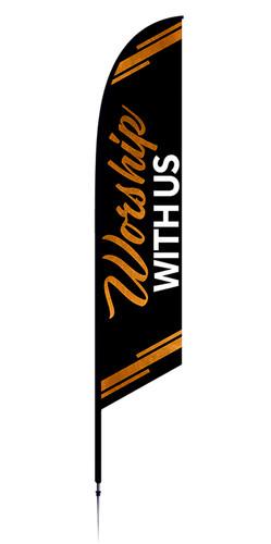 Worship feather flag