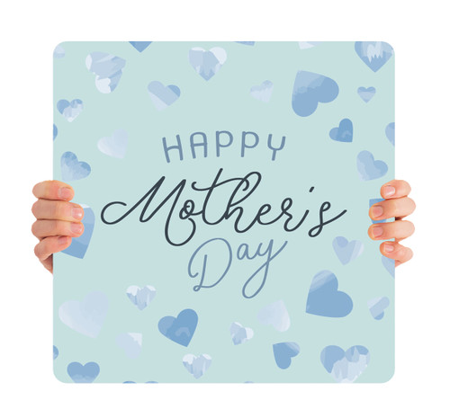 Happy Mother's Day - Blue Hearts MD092