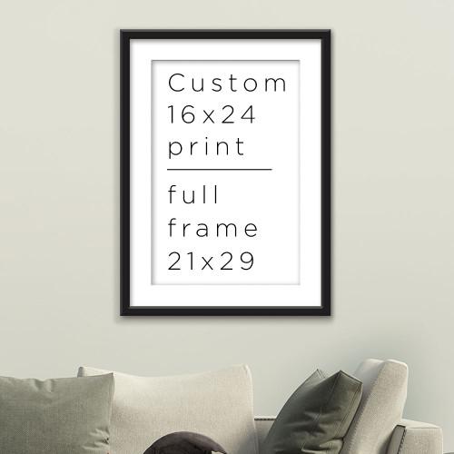 custom framed poster 16x24
