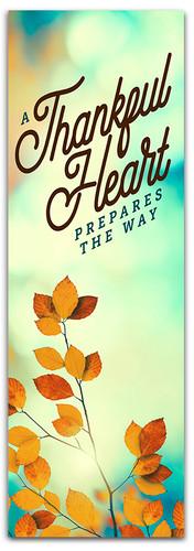 Classic fall harvest Thankful Heart banner design