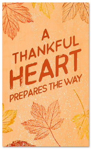 thanksgiving banner a thankful heart prepares the way