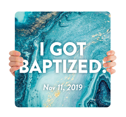 Blue Swirl - I Got Baptized with Date - BHH001
