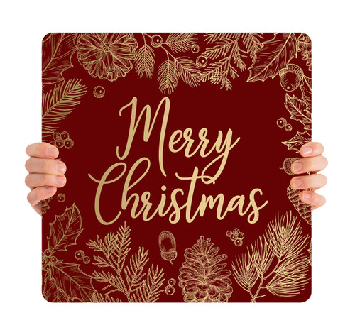 Red Gold Leaf - Merry Christmas - CHH004