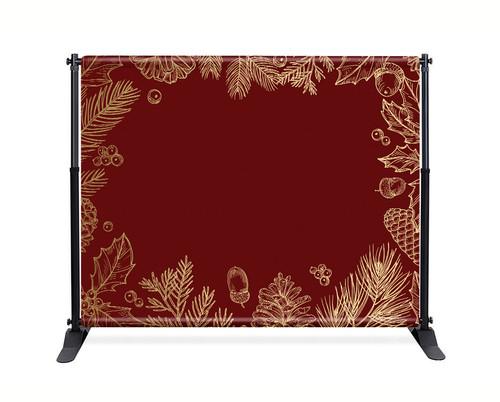 Red Gold Leaf Backdrop  - CBB007