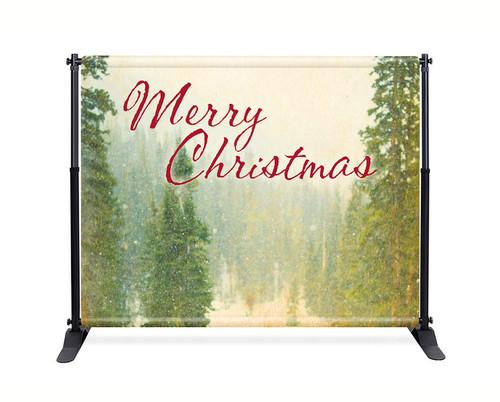 Vintage Trees Backdrop - Merry Christmas - CBB042