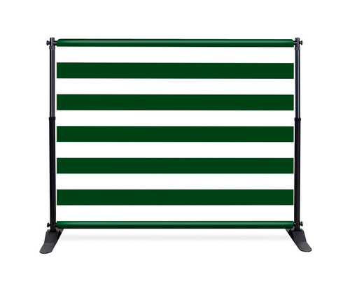 Green Stripe Booth Backdrop - CBB038