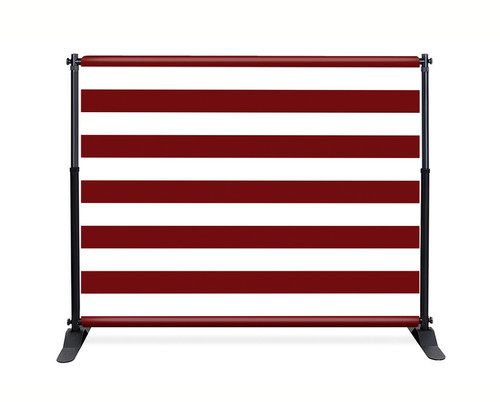 Red Stripe Booth Backdrop - CBB039