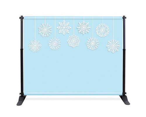 Blue Snowflake Booth Backdrop - CBB040