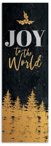 Gold Holly Trees - Joy to the World - CB030