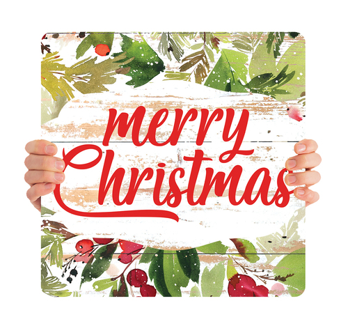 Watercolor Shiplap - Merry Christmas - CHH052