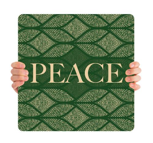 Green Medallion - Peace - CHH059
