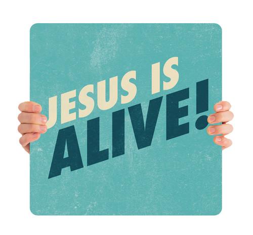 Textured Teal - Jesus is Alive HHE057