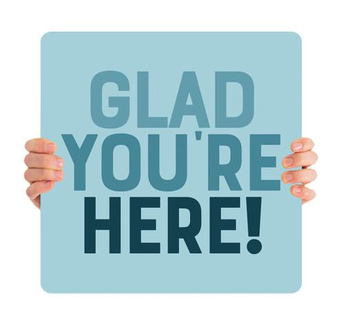 Tri-Blue Handheld - Glad You're Here HHE062
