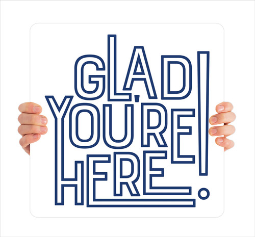 Outline Words Handheld - Glad You're Here HHE072
