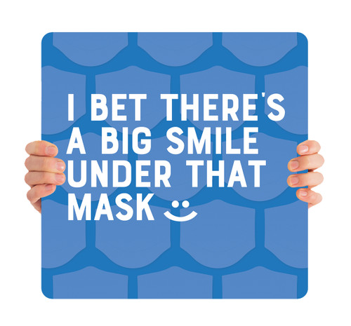 COVID ReOpen Handheld - Style 4 - Big Smile Blue