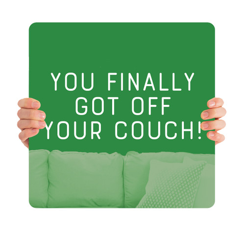 COVID ReOpen Handheld - Style 4 - Off Your Couch Green