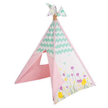 Wild Flowers Canvas Teepee