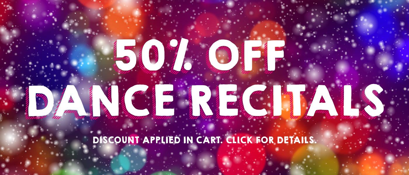 50% off Dance Recital Products