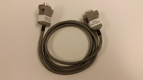 Cable - K118 Kantronics 1200 baud TNC DB-9(m) to ALINCO DB-9(m). Connects 1200 baud port on Kantronics TNC to Alinco mobile radios such as DR-135T, 235T and 245T.
